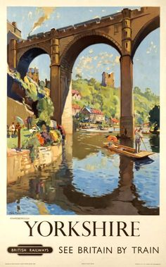 Yorkshire, vintage travel poster