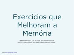 Exercícios Que Melhoram A Memória - patão