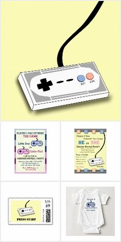 Video Game Baby Shower / Gender Reveal Party Ideas