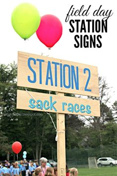 DIY signs for #fieldday #picnics #weddingideas #reunion #fielddaystations #outdoorgames #DIYcraftsandart #racesigns #school #backtoschool http://thatsmyletter.blogspot.com/2015/06/field-day-station-signs.html  ThatsMyLetter tutorials