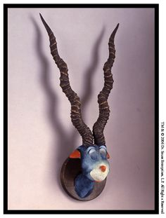 Blue Green Abelard by Theodor Seuss Geisel (he would use horns and antlers given to him by friends, and build fictional animals around them).