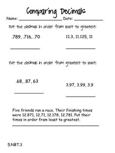46 page document with practice pages for EVERY Common Core Math 5th grade standard. Some standards even have more than 1 practice page. Use for homework, independent practice, quick quizzes, anything!