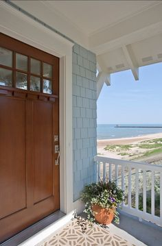 Front Door Decor. Coastal Front Door. #Front #Door #Decor