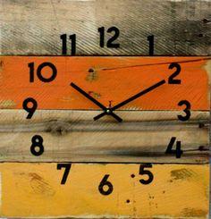 Wall Clock Sticker, Mirror Wall Clock, Wall Clocks, How To Make Wall Clock, Wooden Clock, Nassau, Stencil, House Design, Stickers