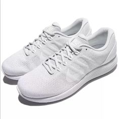 pretty nice a6a80 45d66 Nike Shoes   Nike Lunarglide 9 White On White Running Shoes   Color  White    Size  Various