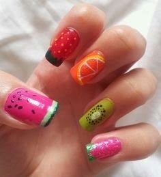 Fruit salad nails