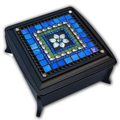 Iris Flower Jewelry Box now featured on Fab. Mosaic Artwork, Mirror Mosaic, Flower Jewelry, Jewelry Box, Christmas Mosaics, Iris Flowers, Tech Accessories, Decorative Boxes, Gift Ideas