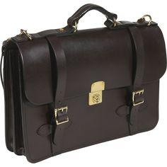 Filson Leather Field Satchel - Dark Brown