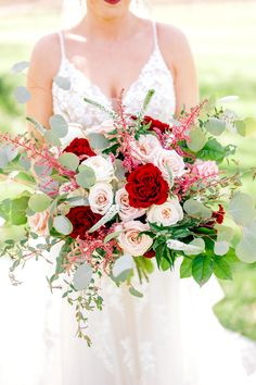 Red roses, Quicksand Roses, Blush Roses, Veronica, Euculyptus and greenery for this garden free form bridal bouquet. Vineyard wedding. Fall / Spring Wedding. Blush Roses, Red Roses, Flower Bouquet Wedding, Floral Wedding, Garnet Wedding, Aisle Flowers, Autumn Bride, Spring Wedding Colors, Wedding Inspiration
