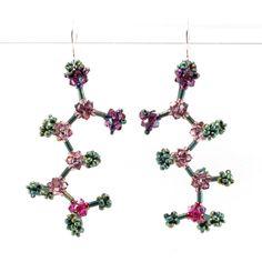Beaded GABA Earrings - Cindy Holsclaw - Bead Origami