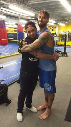 Lucky fan with CM Punk