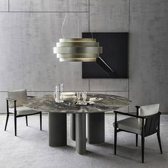 Luxury Dining Room, Dining Room Lighting, Dining Room Design, Dining Rooms, Modern Dining Table, A Table, Dining Tables, Table Lamps, Table Furniture