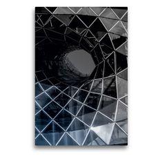 Frankfurt, Renaissance, Monochrom, Symbols, Abstract, Artwork, Round Tower, Water Art, Night Photography