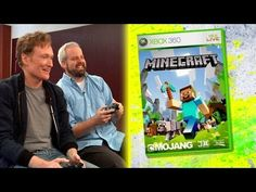 "Conan O'Brien Reviews ""Minecraft"" for XBox 360 - Clueless Gamer ~ I'm such a nerd & LOVE this series of Conan rating games! ♥"