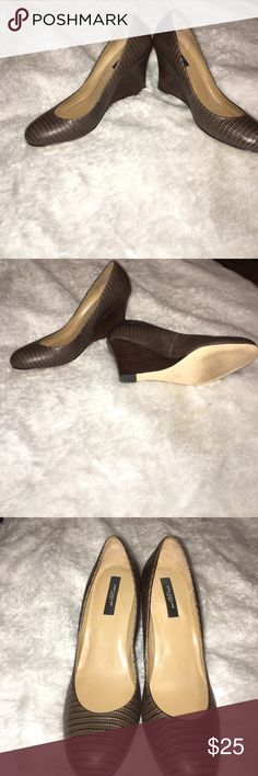Ann Taylor's Wedge shoes for women Excellent condition/wooden wedge heel size 10M.. very cute shoe and it's priced to sale Ann Taylor Shoes Wedges