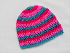 Colourful Crochet Baby Hat, Beanie £4.00