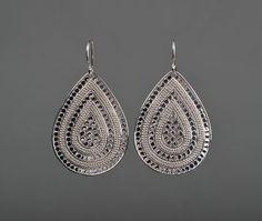 Beaded Teardrop Earrings by Anna Beck - Silverscape Designs