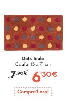 Alfombra de #baño a precio de #oulet  http://www.lamallorquina.es/ca/tovalloles-bany/2171-DOTS-CATIFA-BANY.html