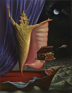 Magician's Secret - Vladimir Kush I like the humor in this piece of surrealism. Haha