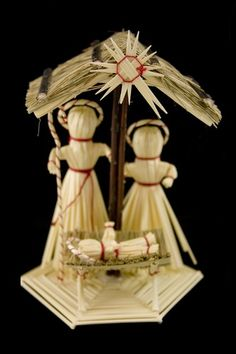 Straw Nativity Set - Szopka - The natural beauty of straw makes this traditional handmade creche a perfect example of Polish folk art. Decorate your home with a little bit of Polish folk art. Nativity Creche, Nativity Crafts, Christmas Nativity, Christmas Wood, Christmas Music, Christmas Holidays, Christmas Crafts, Christmas Decorations, Straw Crafts