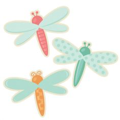 Dragonfly Set SVG cutting file cute dragonfly clipart dragonfly svg cut file for scrapbooking