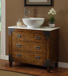36 Asian Style Akira Vessel Sink Bathroom Vanity Cf35535
