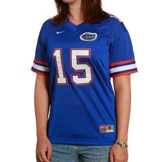 Nike Florida Gators  15 Royal Blue Ladies Tackle Twill Football Jersey b7bd1e96c