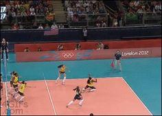 Amazing volleyball save [gif]