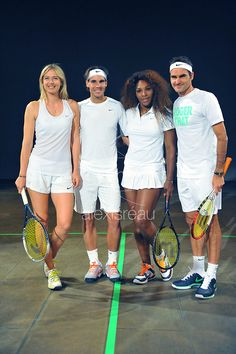 Tennis' 4 biggest stars: Maria Sharapova, Rafael Nadal, Serena Williams & Roger Federer