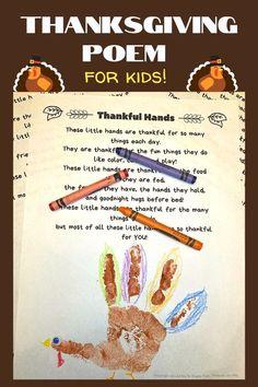 Thanksgiving Handprint poem
