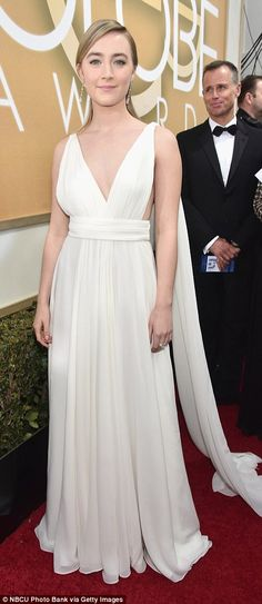 Black or white? Sporting opposite sides of the colour spectrum, Helen Mirren andSaoirse R...