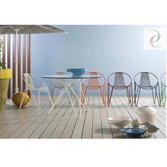 Roche Bobois - Madame O Round Dining Table Outdoor Garden Furniture, Garden Chairs, Outdoor Chairs, Sectional Furniture, Wicker Furniture, Black Furniture, Table And Chairs, Side Chairs, Contemporary Chairs