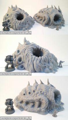 40K Terrain and Scenery 152940: Hc3d - Bio Terrain Tunnels - Wargames Alien Scenery 40K -> BUY IT NOW ONLY: $50.4 on eBay!