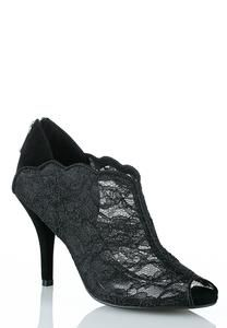 Peep Toe Lace Shooties...$21.99