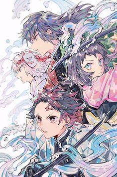 Read Kimetsu No Yaiba / Demon slayer full Manga chapters in English online! Manga Anime, Me Anime, Anime Demon, Anime Love, Anime Art, Demon Slayer, Slayer Anime, Chihiro Cosplay, Hxh Characters