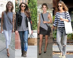 Seriously. I'm loving this striped muscle tank on Keri Russell. It's a versatile piece. I'm on the hunt for the perfect one!