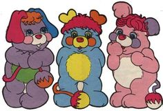 Popples! And I think these are actually Popples from the colorform set I used to have. Remember Colorforms? They were the bomb.