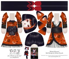 Cut and Sew Kitsune Doll fabric by selinafenech on Spoonflower - custom fabric
