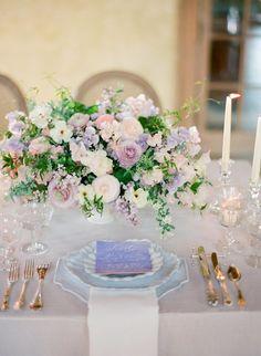 Wedding reception centerpiece idea; photo: Jose Villa