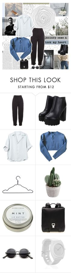 """""""february felt the same"""" by www-purrtydino-org ❤ liked on Polyvore featuring Krystal, Gucci, HAY, CB2, Proenza Schouler, Nixon and DOSE of ROSE"""