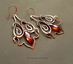 easter european wire workers are amazingbeautiful wire work. easter european wire workers are amazing Wire Jewelry Designs, Jewelry Crafts, Jewelry Art, Beaded Jewelry, Jewlery, Handmade Wire, Handcrafted Jewelry, Earrings Handmade, Wire Wrapped Earrings