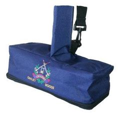 "Croquet Mallet Cover (lg) by Oakley Woods Croquet. $49.00. These padded covers are made from heavy nylon cordura. The navy blue is accented with colorful embroidered croquet logo. It features an adjustable carrying sling. Inside the zippered head section is a clear pocket for keeping your official rulebook. An outside clear window allows for a name tag for plane travel. This large size cover fits all mallet heads up to 12"" long.  See The Croquet Store for the standard m..."