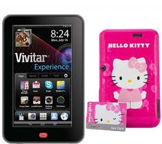 A tablet with character. Loaded with popular apps and completely customizable, the Vivitar Camelio Android tablet is fun for the whole family--especially Hello Kitty lovers.<br><br>What makes the Vivitar Camelio different? Using the included Personality Pack, this unique tablet can be transformed into a Hello Kitty tablet, so your favorite character is always with you while you play and learn. Create your own personalized profile and customize your account with themed wallpaper, widgets…