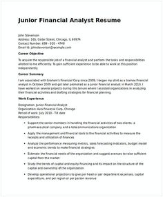 Financial Advisor Resume Objective Stunning Financial Analyst Resume Sample  Financial Analyst Sample Resume .