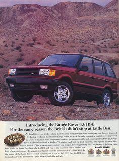 1996 Range Rover ad (via http://www.productioncars.com/)