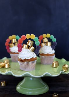 St Patricks Day Rainbow Cupcakes - Say Yes to Hoboken