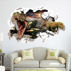 Find More Wall Stickers Information about Hot! 1pc Dinosaur 3D Wall Through Wall Stickers Bedroom Kids Room Decorative Collages Removable Home Decorative Sticker 1998WS,High Quality sticker wall,China sticker book for collecting stickers Suppliers, Cheap stickers rabbit from NAAN GUO Store on Aliexpress.com
