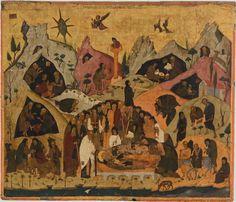 Κοίμηση του Αγίου Σάββα. 15ος αιώνας. Δημόσια Βιβλιοθήκη Λευκάδας