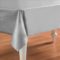 Masterpiece Plastic Rectangular Tablecover (silver) Party Accessory  (1 count) (1/Pkg) by The Beistle Company. $3.50. Party Accessory. Plastic Material. Table Decoration. Size is 54-Inch by 108-Inch. 1 per package. Rectangular Tablecover, Measures, 54-Inch by one hundred eight-Inch, plastic tablecover, great for an event and great for decorating.