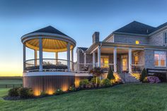 Outdoor Deck Lighting, Solar Deck Lights, Southern Style Homes, Gazebo On Deck, Pergola, Led Light Design, Rest House, Luxury Homes Dream Houses, Decks And Porches